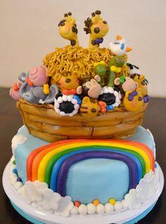 The Sew*er, The Caker, The CopyCat Maker: Noah's Ark Cake