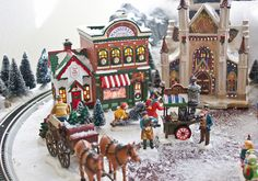 Miniature christmas village miniatures, miniatur villag, christma villag, villag idea, miniatur christma, christmas villages