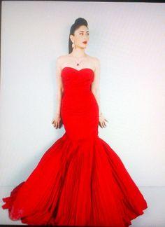 #KareenaKapoor in a red mermaid dress.. LIKE or DISLIKE?
