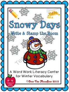 This fun, winter themed activity pack will help your students practice reading, writing, & vocabulary; A perfect complement to your seasonal activities!