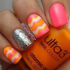 orange and pink<3