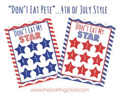 Don't Eat Pete... 4th of July Style! #printable #free_download eat pete, juli style, 4th of july