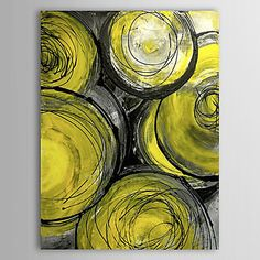 Yellow Room Hand Painted Oil Painting Abstract 1303-AB0354