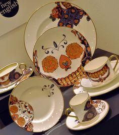 tea set, skulls, dream, teas, art, plate, afternoon tea, sugar, china