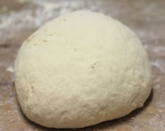 pizza dough  ~ 1 cup of greek yogurt and 1 cup of Self Rising flour - that's it!  This quantity makes a single pizza, but you can increase the ingredients and feed a crowd if you want to.