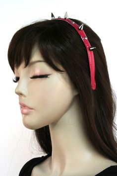 Domino Dollhouse - Plus Size Clothing: Candy Spiked Headband in Fuschia Pink