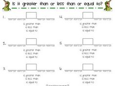 Greater than Less than worksheet