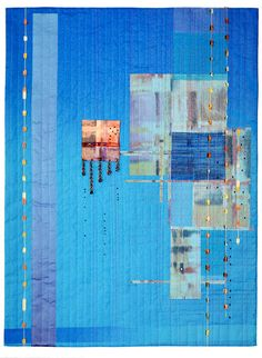 """Sky"" by Andi Perejda.  Wow. artquilt, galleries, sky, andi perejda, art quilt, quilt inspir, inspir quilt, beads, andi perejeda"