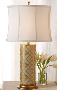 Gold accented lamp