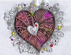 {Looks like a Heart Explosion, in a good way, not a gross way. Love it! ~ Belle}