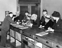 """Bookies rushed in to the Omaha City Clerk's office on April 15, 1937, to pay their occupation taxes. According to The World-Herald, """"Cause of the enthusiasm was that by virtue of the new tax the bookie business becomes legal, or sort of legal."""" THE WORLD-HERALD"""