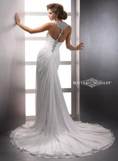 Unique low back bridal gown by Sottero Midgley Delanie Bridal Gown