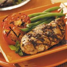 Grilled Basil Chicken and Tomatoes. Made this tonite, SO FLAVORFUL!!
