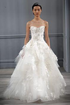 Ambiance~Distinctive Weddings & Events 2014 Monique Lhuillier Wedding Gown~ MaryannJudy.com (410) 819-0046