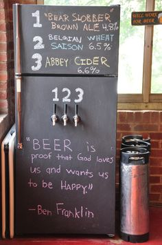 Love the idea of redoing an old fridge for keg beers