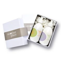 Another Place gift set  Our bestselling Another Place products, chamomile and frankincense hand lotion and grapefruit and lime hand wash, will keep your hands looking and feeling beautiful this Christmas. Both 300ml £23.50 SOLD OUT