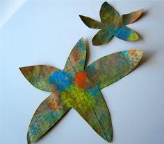 Ocean ideas... bubble wrap starfish!