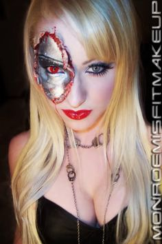 Robot-girl special effects makeup