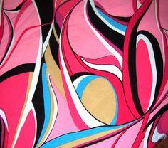 Designer Modern Swirl Fabric, Designer Crepe Fabric, Designer Modern Yardage. $20.00, via Etsy.