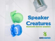 Speaker Creatures are Bluetooth speakers for the shower! They are a reliable shower buddy designed to make rocking out in the shower so much better!