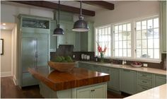 love! would do a dull butcher block island though