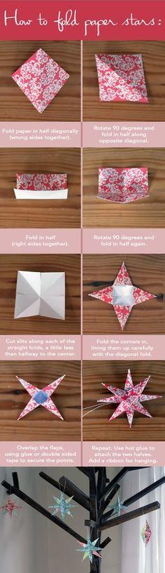 folding paper stars
