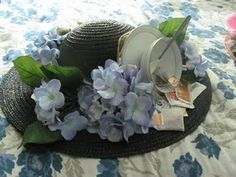 My hat for the Ladies Tea Party at church. I came prepared! tea craft, church ladi, tea parti, ladi tea, tea party hats for women, parti hat, fabul hat