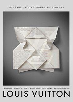 Louis Vuitton origami invitation