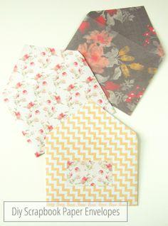 Sweet and Simple Diy Scrapbook Paper Envelopes.
