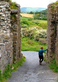 Medieval gateway, Dunamase Castle, Co. Laois, Ireland