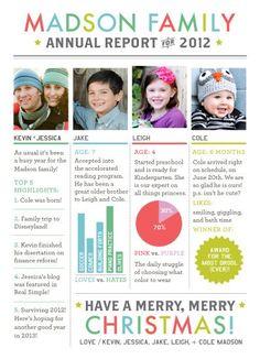 christmas cards, annual christmas letter, christmas design, christma letter, christmas family card, famili, annual reports, holiday cards, christmas letter ideas