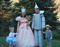 halloween costume ideas, tin man, wizards, family halloween costumes, costum idea, families, wizard of oz, family costumes, homemade halloween costumes