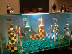 Lego Quidditch Aquarium - I'm not that much of a fan of owning fish but I'd get an aquarium just so I could do this!