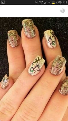 Camo nails... must have for the browning and camo lover!