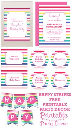 FREE printable party decorations from printablepartydecor.com #freeprintable