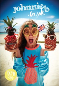 Our pineapple-tastic jumper is 40% off for four days! £21 #Johnnieb #Boden