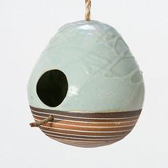 Terrain Mineral Birdhouse, Jade