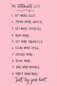 Everything on this list sounds awesome! Here is to a new year!
