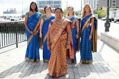 bridesmaids saree, bridesmaids dresses, bridesmaids jewelry, boston indian wedding