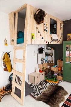 kid bedrooms, kid beds, tree houses, kid rooms, clubhous room