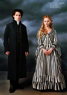 Christina Ricci and Johnny Depp from the film Sleepy Hollow.