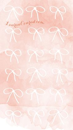Pink Bows Background