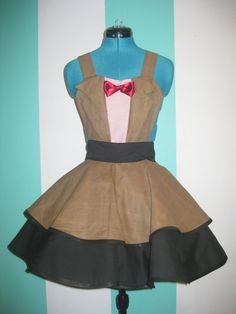 Doctor Who Eleventh Doctor Matt Smith Cosplay Apron Pinafore - Etsy.  I wish I could sew!