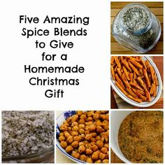 Five Amazing Spice Blends to Give for a Homemade Christmas Gift because no one needs a plate of cookies from everyone they know, even if it is the holidays!  [from Kalyn's Kitchen] #HealthyHolidays