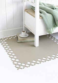 DIY felt rug by Ariadne At Home
