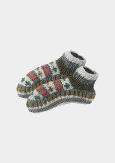 HAND KNITTED SLIPPER SOCKS