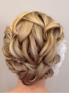 bridesmaidhair, short hair, shorter hair, bridesmaid flowers, bridesmaid hair, wedding updo, hair designs, bridal hair, wedding hairstyles