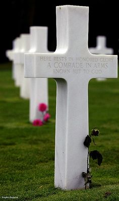 Unknown grave at Normandy American Cemetery