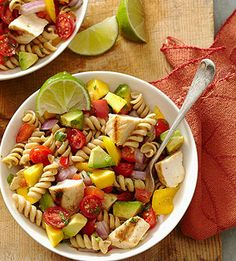 Cilantro-Lime Pasta Salad pasta salad recipes, side dishes, chicken recipes, food, grilled chicken, chicken pasta, pastas, healthy recipes, cilantrolim pasta