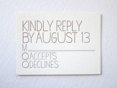 hand drawn letterpress invitations #handdrawn #letterpress #invitations #rsvp #bellafigura